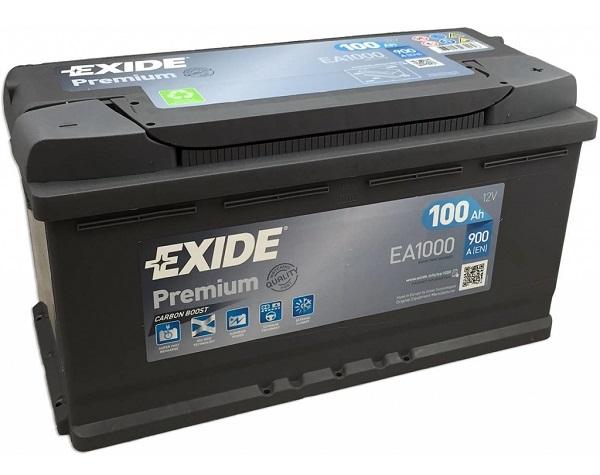 Exide Premium 12V 100Ah 900A EA1000 recenzie